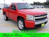 2007 Victory Red Chevrolet Silverado 1500 LS Regular Cab #22206905