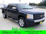 2008 Dark Blue Metallic Chevrolet Silverado 1500 LT Crew Cab #22206906