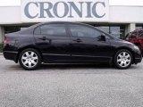 2007 Nighthawk Black Pearl Honda Civic LX Sedan #22205830