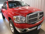 2007 Flame Red Dodge Ram 1500 SLT Quad Cab 4x4 #22210561