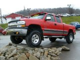 1999 Victory Red Chevrolet Silverado 1500 LS Extended Cab 4x4 #22323556