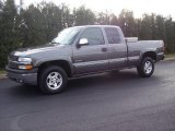 2001 Medium Charcoal Gray Metallic Chevrolet Silverado 1500 LS Extended Cab 4x4 #22325539