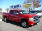 2008 Victory Red Chevrolet Silverado 1500 LT Crew Cab 4x4 #22269376