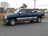 2002 Indigo Blue Metallic Chevrolet Silverado 1500 LS Extended Cab 4x4 #22275293