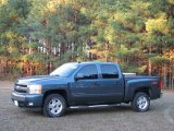 2008 Blue Granite Metallic Chevrolet Silverado 1500 LT Crew Cab #22273444
