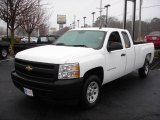 2008 Summit White Chevrolet Silverado 1500 Work Truck Extended Cab #22260219