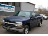 2002 Indigo Blue Metallic Chevrolet Silverado 1500 Work Truck Regular Cab 4x4 #22273089