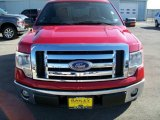 2010 Vermillion Red Ford F150 XLT SuperCrew #22344165
