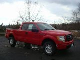 2010 Vermillion Red Ford F150 XL SuperCab 4x4 #22294872