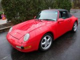 1995 Guards Red Porsche 911 Carrera Cabriolet #22260447