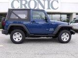 2010 Deep Water Blue Pearl Jeep Wrangler Sport 4x4 #22422110