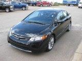 2007 Nighthawk Black Pearl Honda Civic Si Sedan #22422769