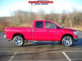 2007 Flame Red Dodge Ram 1500 Big Horn Edition Quad Cab 4x4 #22428146