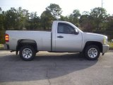 2008 Silver Birch Metallic Chevrolet Silverado 1500 Work Truck Regular Cab #22276184