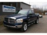 2008 Patriot Blue Pearl Dodge Ram 1500 Laramie Quad Cab 4x4 #22273090