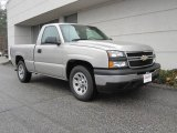 2006 Silver Birch Metallic Chevrolet Silverado 1500 Work Truck Regular Cab #22557228