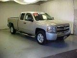 2008 Silver Birch Metallic Chevrolet Silverado 1500 LT Extended Cab 4x4 #22559234