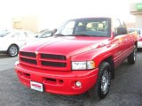 1999 Flame Red Dodge Ram 1500 Sport Extended Cab #22543899