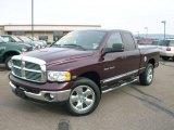 2004 Deep Molten Red Pearl Dodge Ram 1500 Laramie Quad Cab 4x4 #22580886