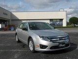 2010 Brilliant Silver Metallic Ford Fusion S #22549748