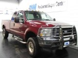 2004 Dark Toreador Red Metallic Ford F250 Super Duty FX4 SuperCab 4x4 #22590808