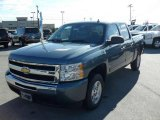 2009 Blue Granite Metallic Chevrolet Silverado 1500 LT Crew Cab #22696019