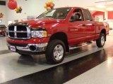 2004 Flame Red Dodge Ram 1500 SLT Quad Cab 4x4 #22682732