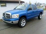 2007 Electric Blue Pearl Dodge Ram 1500 Big Horn Edition Quad Cab 4x4 #22685471