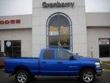 2007 Electric Blue Pearl Dodge Ram 1500 Big Horn Edition Quad Cab 4x4 #22681913