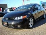 2007 Nighthawk Black Pearl Honda Civic EX Coupe #22547142