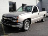 2006 Silver Birch Metallic Chevrolet Silverado 1500 Work Truck Regular Cab #22759267