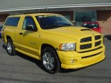 2004 Solar Yellow Dodge Ram 1500 SLT Rumble Bee Regular Cab #22773483