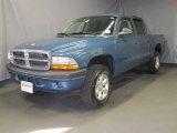 2004 Atlantic Blue Pearl Dodge Dakota SXT Quad Cab 4x4 #22770514