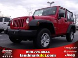 2010 Flame Red Jeep Wrangler Sport 4x4 #22765790