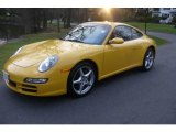 Speed Yellow Porsche 911 in 2007