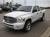 2008 Bright White Dodge Ram 1500 Laramie Quad Cab 4x4 #22768069