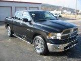 2010 Brilliant Black Crystal Pearl Dodge Ram 1500 Big Horn Crew Cab #22775054