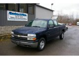 2002 Indigo Blue Metallic Chevrolet Silverado 1500 Extended Cab 4x4 #22840227