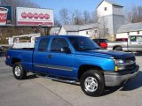 2003 Arrival Blue Metallic Chevrolet Silverado 1500 LS Extended Cab 4x4 #22849911