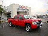2007 Victory Red Chevrolet Silverado 1500 LT Crew Cab #22845875