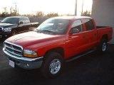 2004 Flame Red Dodge Dakota SLT Quad Cab 4x4 #22846844