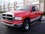 2005 Flame Red Dodge Ram 1500 SLT Quad Cab 4x4 #22845109