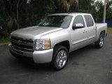 2010 Sheer Silver Metallic Chevrolet Silverado 1500 LT Crew Cab #22910289