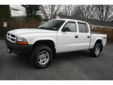 2003 Bright White Dodge Dakota SXT Quad Cab 4x4 #22919066