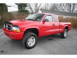 2004 Flame Red Dodge Dakota SXT Club Cab 4x4 #22919067