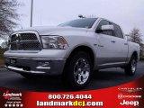 2010 Stone White Dodge Ram 1500 Laramie Crew Cab 4x4 #22914498
