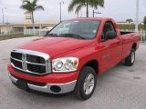 2007 Flame Red Dodge Ram 1500 SLT Regular Cab #22902713