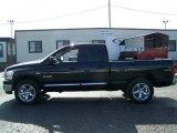 2008 Brilliant Black Crystal Pearl Dodge Ram 1500 Big Horn Edition Quad Cab #22919839