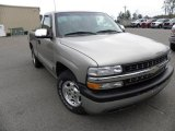 2002 Light Pewter Metallic Chevrolet Silverado 1500 LS Regular Cab #22984315