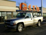 2000 Light Pewter Metallic Chevrolet Silverado 1500 Regular Cab 4x4 #22978659